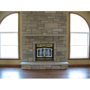 Blended Stone Fireplace